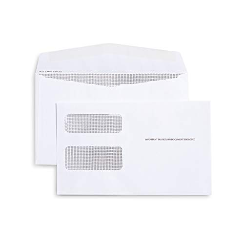 500 1099 MISC Tax envelopes - Designed for Printed 1099 Laser Forms from Quickbooks or Similar Tax Software - 5 5/8 Inch x 9 Inch, Gummed Flap, 500 Form Envelopes