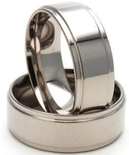8mm Men's Titanium Rings Wedding Band, Titanium Bands For Men, Sz 4-17