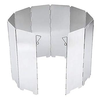 HomeDecTime Pare-Vent Pliable en Alliage D'Aluminium, 10 Assiettes Pare-Vent de Camping Portable Réchaud de Camping, Cuisinière à Gaz Etc.