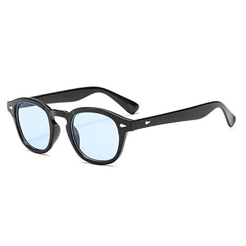 AOCCK Sonnenbrillen,Brillen,Jackjad New Fashion Johnny Depp Lemtosh Style Round Sunglasses Tint Ocean Lens Brand Design Party Show Sun Glasses Oculos De Sol blue lens