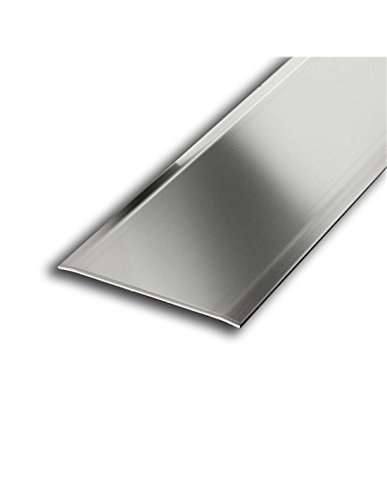 Jardin202 40mm anch. 3mm alt. 0,83m larg. Adhesivo - Transicion Aluminio Dos Alas - 40mm
