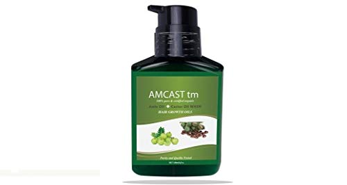 AMCAST WASH SHAMPOO Hair Growth Oils AMLA Oil + CASTOR Oil Cold Pressed Organic Hair Stop Hair Loss Increase Thickness Volume Maximizer. Best Treatment for Hair Thickening/Thinning Hair. 6oz/180ml