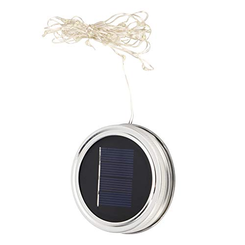 Simlug Patio Laterns Lights Household Lighting Environmental‑Friendly Solar Mason Light, Garden Solar Light, Indooor Outdoor for Party Wedding