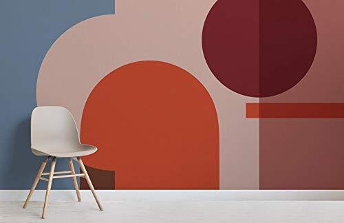 Bunte geometrische Formen moderne Bauhaus Tapete Wandbild Fototapete 3D wasserdicht Dekoration Malerei Fresko 150×105cm
