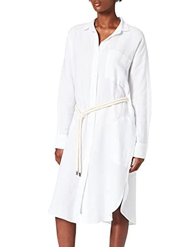 REPLAY W9657 Vestido, 001 Optical White, M para Mujer
