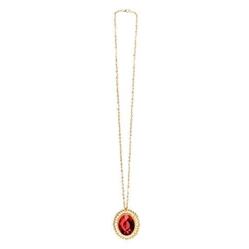 Boland- Collana con Medaglione Talismano Ruby Charm per Adulti, Rosso/Oro, Taglia Unica, 72175