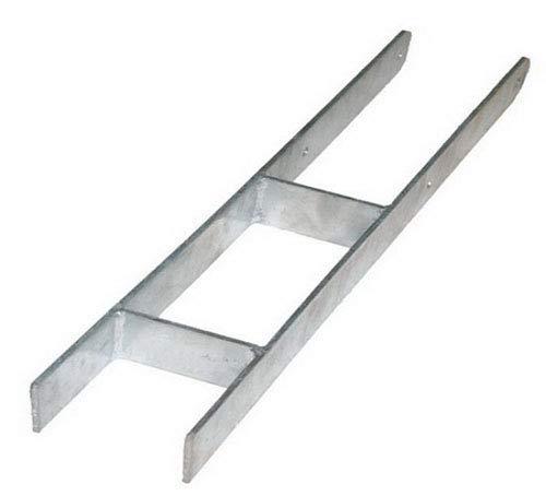 Pfostenträger H Anker zum Einbetonieren 141 mm für Pfosten 14 cm feuerverzinkt H-Pfostenträger HDH