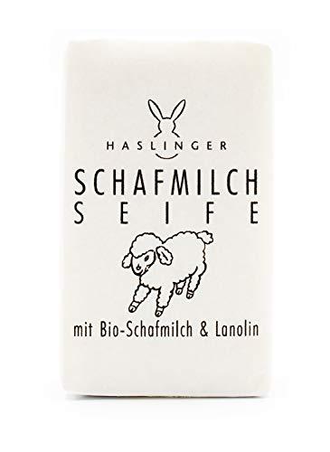 Haslinger 6046 Schafmilch Seife handverpackt in Papier, 150 g