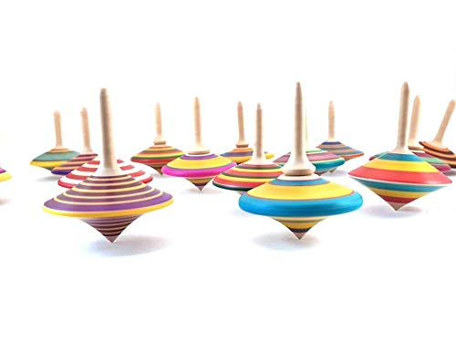 Handmade wooden spinning tops x 3, All individually hand made, coloured and textured.