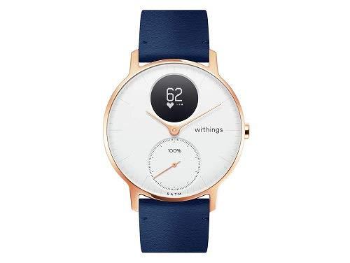 Withings Steel HR - Reloj inteligente híbrido con seguimiento de la actividad, GPS, control de la frecuencia cardíaca, seguimiento del sueño y notificaciones, sumergible y con autonomía de 25 días