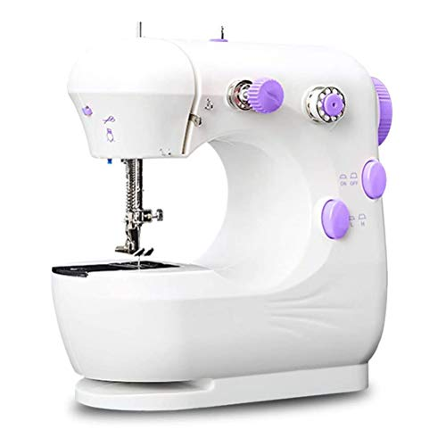 Lowest Prices! GIMIFY Mini Sewing Machine Household Portable Crafting Machine with Lamp Electric Sew...