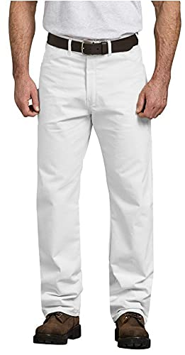 Dickies Men's Painter's Utility Pant Relaxed Fit, White, 30x32