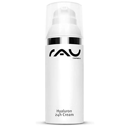 RAU Hyaluron 24h Cream 50 ml - Anti-Aging Creme für Trockene, Schlaffe Haut mit Hyaluronsäure, Sheabutter & Avocadoöl