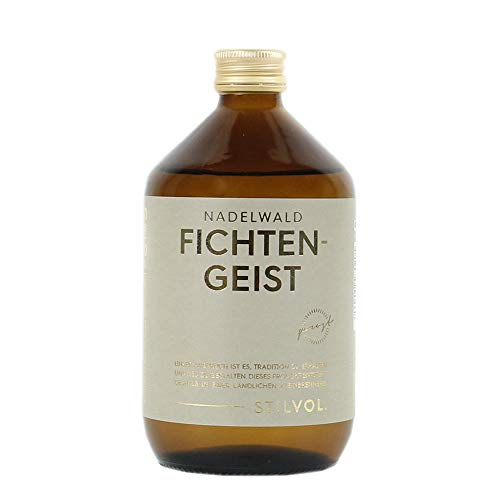 Geschenke für Männer: Nadelwald Fichtengeist 38% Vol. von STILVOL. Spirituosen. Hergestellt in Klein-Brennerei, ohne künstliches Aroma.