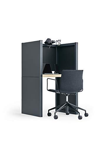 Think Lab HOME(シンクラボ ホーム) デスク 簡単組み立て マットブラック 幅77×奥行65×高さ126cm TL-H001