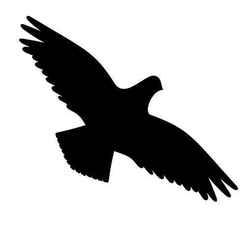 GreenIT Lot de 4 30 cm Noir Oiseaux Autocollants pour Les fenêtres Cut Tattoo Oiseaux d'alerte Protection Film décoratif