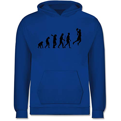 Evolution Kind - Basketball Evolution - 104 (3/4 Jahre) - Royalblau - Menschenaffe - JH001K JH001J Just Hoods Kids Hoodie - Kinder Hoodie
