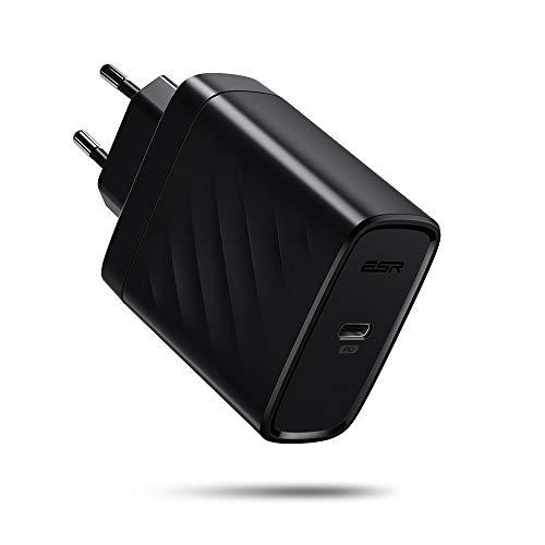 ESR USB C Cargador 30W, Carga Rápida con Power Delivery para iPhone 12/12 Pro/12 Mini/12 Pro Max/SE2/11/11Pro/11 Pro MAX/XS MAX/XS/XR, Galaxy S20/S10, iPad Air 4/iPad Pro, AirPods MAX/Pro, MacBook