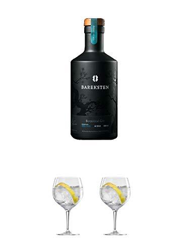 Bareksten Botanical Gin aus Norwegen 0,50 Liter + Ballon Bistro Cubata GIN Glas 1 Stück + Ballon Bistro Cubata GIN Glas 1 Stück
