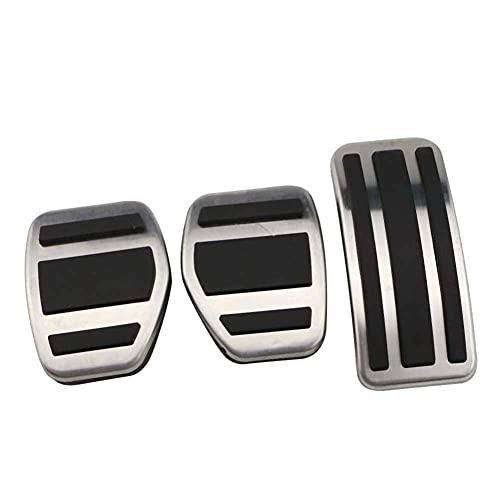Pedal del acelerador antideslizante de freno de embrague de placa de almohadilla de pedal de acero inoxidable y goma, para Peugeot 207301307208 2008308408 para CITROEN C3 C4 para DS 3 4 6 DS3 DS4 DS6