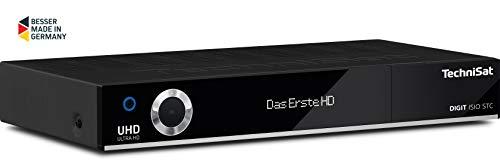 TechniSat Digit ISIO STC UHD Receiver (4K Twin Tuner, Sat DVB-S/DVB-S2, Kabel DVB-C, DVB-T2 HD, Smart TV, App Steuerung, PVR Aufnahmefunktion, WLAN, LAN, CI+, USB 3.0) schwarz