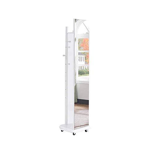 Europese retro 360 graden rotatie staande spiegel vloergarderobe hout slaapkamer woonkamer studie C D