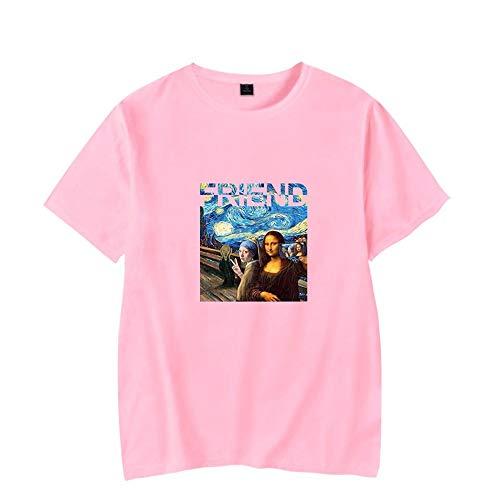 KJYAYA T-Shirt Fine Art Vincent Van Gogh T-Shirt Design élégant De La Nuit étoilée Tops à Col Rond Convient Aux Enfants Femmes Homme