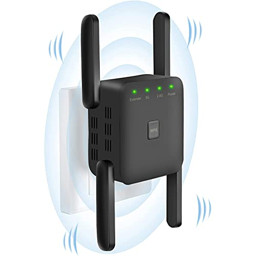 Aigolink 1200Mbps WiFi Booster Range Extender, 2.4GHz and 5GHz Dual Band...