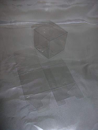50 PZ Scatola trasparente pvc 5x5x5 cm portaconfetti