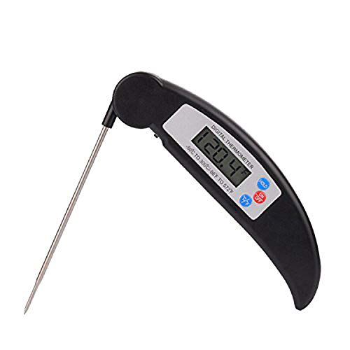 AIDERLY Digital Meat Thermometer 4 Second Instant Read Thermometer Cooking Food Thermometer for Kitchen/Grill/Candy/Oil/Bath Water/Baby Food, HSN012B
