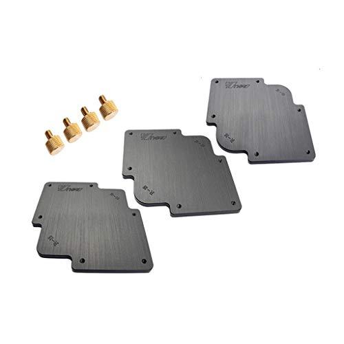 3 Stück Eckvorschablone für Fräser/Trimmer, R10 x R15, R20 x R25 und R30 x R35 Rundeckjigset