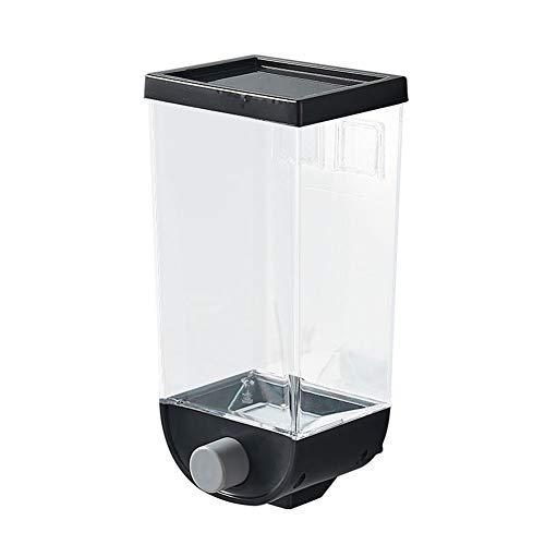 LYPULIGHT Müsli-Spenderbehälter, Wandmontage, Müsli-Spender, Tank, 1500 ml, für Getreide, trockene Lebensmittel, Aufbewahrungsbox