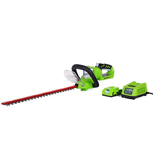 Greenworks 24V 22 inch Hedge Trimmer with 2Ah Battery and Charger