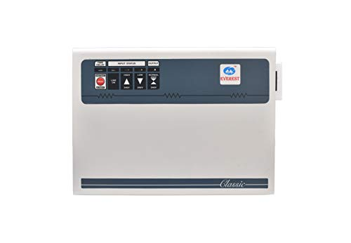 Everest Copper Double Booster AC Stabilizer for 1.5 Ton AC, 12 amps 4500 W (White)