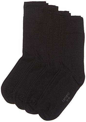 Camano Herren 3512 Ca-Soft Bio-Cotton 4 Paar Socken, Schwarz (Black 05), (Herstellergröße: 39/42) (4er Pack)