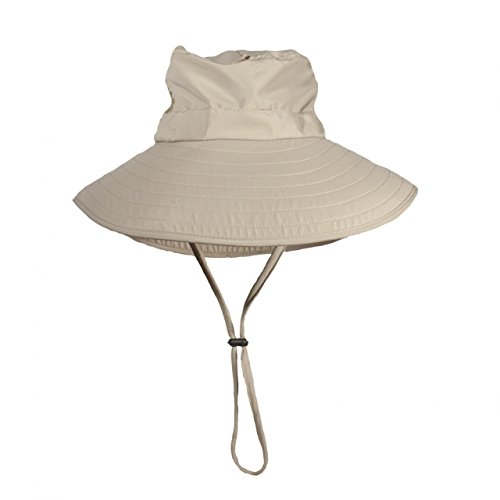 Bughat - Adult Work n Play Mosquito Net Hat - Khaki - Small/Medium - Unisex - Outdoor Hat - Sun and Bug Protection