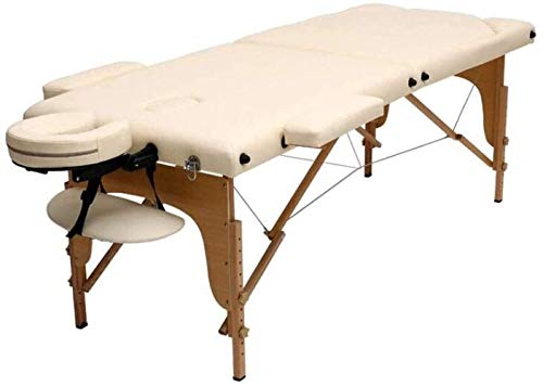 Massage Table Folding Massage Bed Physiotherapy Acupuncture Care Portable The Best Massage Table Reiki Portable Massage Table Leather (Color : White)