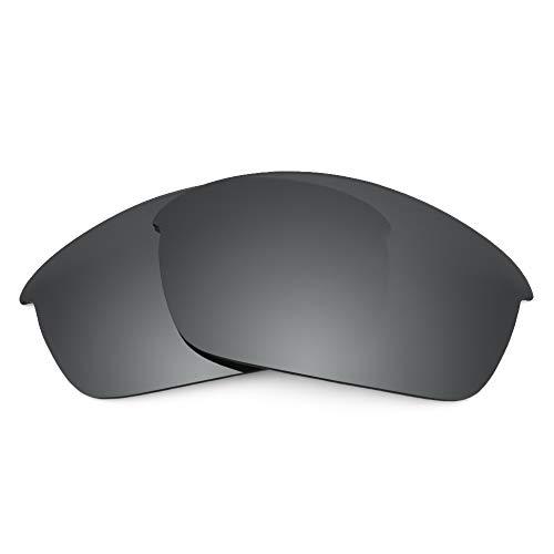 Revant Ersatzgläser für Oakley Flak Jacket, Polarisiert, Elite Schwarz Chrome MirrorShield
