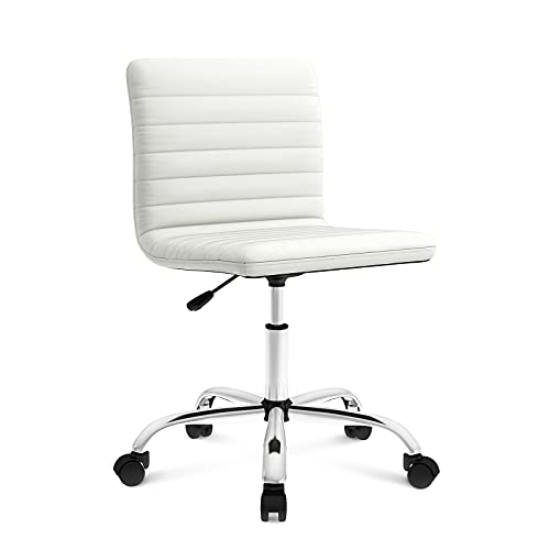 Office Chair Ergonomic Computer Desk Chair Swivel Rolling Task Chair with Armless Mid Back for Home Office Conference Study Vanity Room