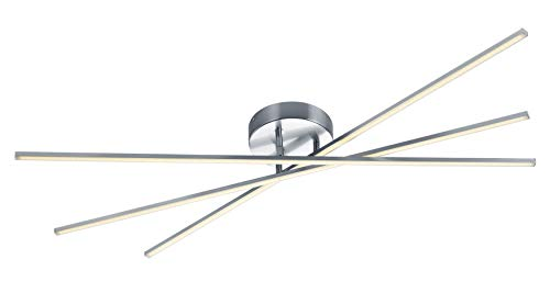 Trio Leuchten Tiriac Lampada da soffitto 8.5 W, Nickel Satinato