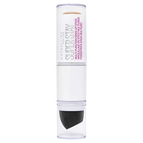 Maybelline New York Super Stay Multi-Funktions Make-up Stick Nr. 010 Ivory und Concealer in einem, bis zu 24h Halt, mit Präzisionsblender, 7 g