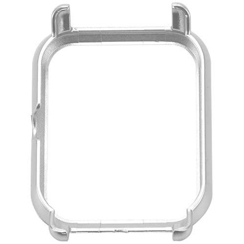 SODIAL Caja Protectora de Reloj Inteligente Cubierta Caja de PC de Marco Delgado Cascara Protectora para Huami Amazfit Bip Reloj Juvenil, Plata