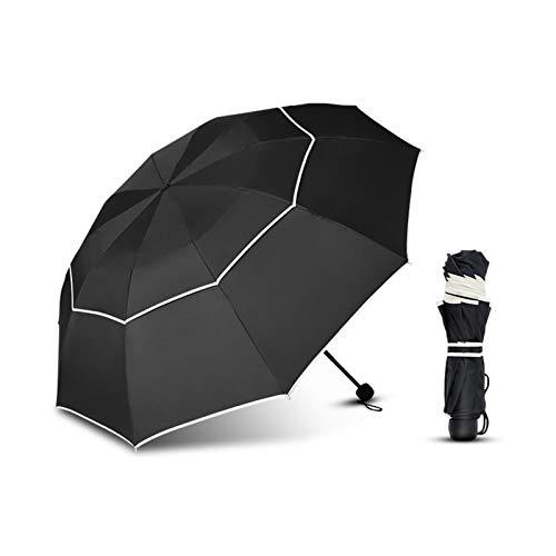 XDTLD a prueba de viento de doble capa de tela plegable paraguas automático lluvia mujeres hombres de negocios portátil gran paraguas mujeres masculino sombrilla viaje paraguas