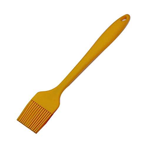 dili-bala Basting Brush Silikon Gebäck Backbürste BBQ Sauce Marinade Fleisch Ölbürste Hitzebeständig, Küche Kochen Baste Gebäck Kuchen Fleisch Desserts, Spülmaschine sicher(Orange)