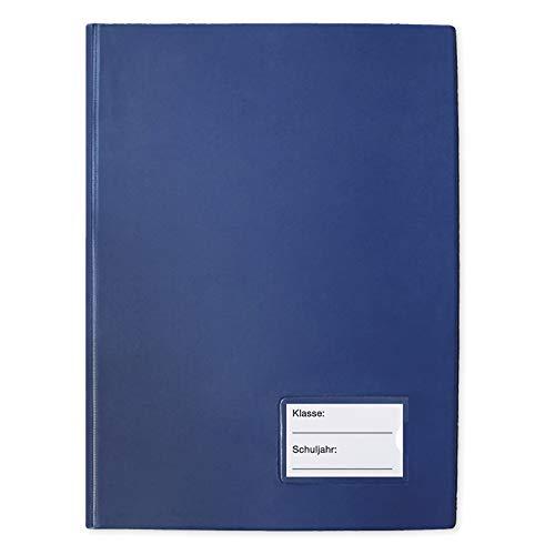 TimeTEX Klassenbuch mit PU-Einband - Format: A4-Plus - Blau - 10566