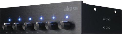 Akasa AK-FC-08BKV2 fläktkontroll (13,3 cm (5,25 tum), 6-fläkt) svart