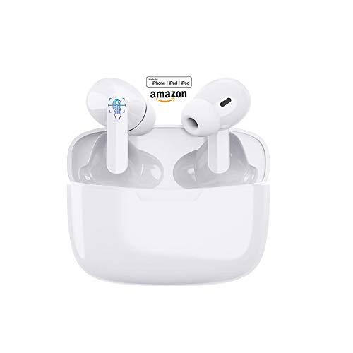 Auriculares inalámbricos Bluetooth 5.1, Control táctil, IPX7 reducción del Ruido estéreo 3D HD,...