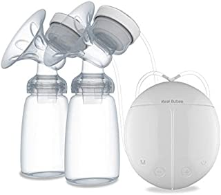 Real Bubee Unilateral/Uilateral Electric Breast Pump Chest Massage with 2 Bottles Portable USB Powered for Breastfeeding S...