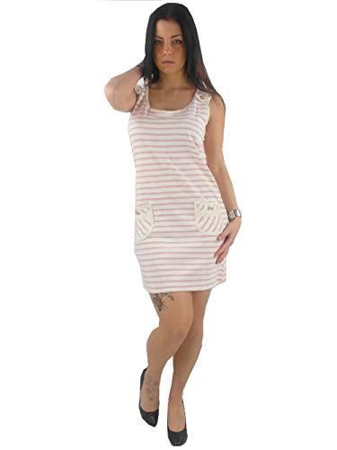 Yumi originele jurk zomerjurk K-1672 lichtblauw wit gestreept NIEUW