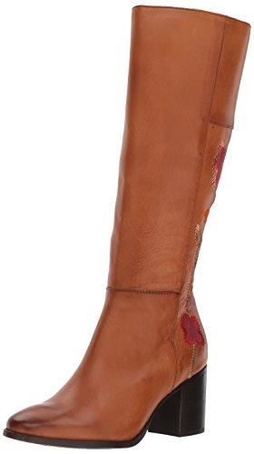 FRYE Women's Nova Flower Tall Boot, Cognac, 6.5 M US